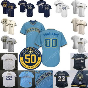 Milwaukee Jersey Tyrone Taylor Craig Counsell Keon Broxton Manny Pina Ben Gamel Jedd Gyorko Corey Knebel Cecil Cooper Paul Molitor Garcia