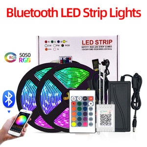 LED Strip Set 5050RGB With RF IR Bluetooth Music Controller Flexible Light For TV Background Lamp Ribbon Led Tape IP65