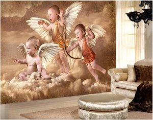 3d wallpaper Wall stickers custom photo mural Hand painted cupid little angel sofa background wall painting home decor wall art pictures