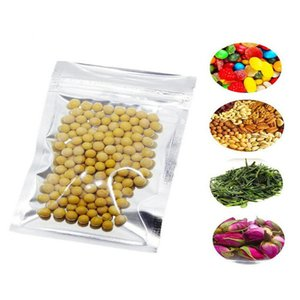 7X13Cm Limpar zip lock sacos de armazenamento translúcido Ziplock Folha de alumínio sacos Auto Seal Food Grade Mylar plástico Zipper Bag 275X51