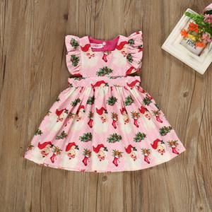Нового Рождество ребенка девочки платье ребенка девушка дизайнер одежда милая принцессы платье девушка платье девушка малыш одежда