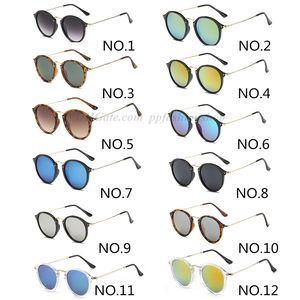 Top Nuovi occhiali da sole di qualità della moda per uomo donna Erika Eyewear di marca del progettista di vetro di Sun Matt Leopard Gradient UV400 Lenti
