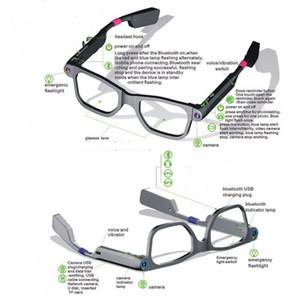 كاميرا عالية الجودة بلوتوث 4.0 رجل امرأة ذكية النظارات النظارات الشمسية النظارات دعم مكالمة هاتفية فيديو المدمج في بطاقة TF 8G الموسيقى