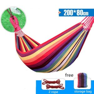 Portable Hammock 1-2 People Bedroom Hammock Outdoor Swing Chair Garden Home Travel Camping Swing Canvas Hanging Bed Hammock With Backpack #3