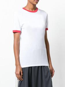 T-shirt col rond à rayures rouges à la mode des hommes de la mode chaud T-shirt de la marque T-shirt décontracté à manches courtes