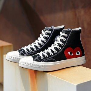 1970 Olhos grandes Jogue Chuck 70 70 Coração Hi Canvas Shoes Skate clássico de 1970 sapatas de lona Conjuntamente Nome skate Sneakers Casual