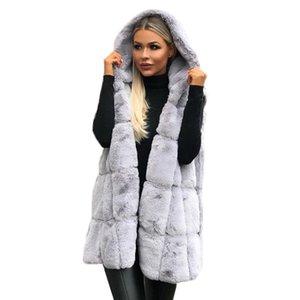 Womens Vest Winter Warm Hoodie Outwear Casual Coat Jacket Sleeveless Female Vest Fall Gilet Casual Waistcoat Women