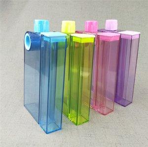 A5 / A6 Taşınabilir Plastik Bardak Temizle Kitap Taşınabilir Kağıt Pad Su Şişesi Ayrılabilir Hip mataralar Doğa Sporları Şişe A03