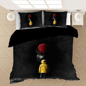 Stephen King's It 3D комплект постельных принадлежностей пододеяльники фильм ужасов клоун серия Утешитель наборы постельных принадлежностей постельное белье постельное белье (без простыни) Y200417