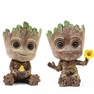 Groot maceta Tiesto Planter figuras de acción guardianes de la LJJK1637N Galaxy juguete Hombre del árbol pluma Macetas