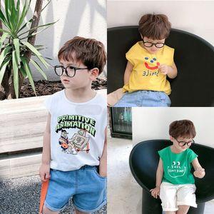 Forward Western style boys' summer sleeveless T-shirt children's base shirt top fashion Top Vest vest 2020 New