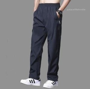 Hombre Breathable Mens Thin Pants Causal Solid Relaxed Track Sweatpants Joggers Elastic Waist Straight Pants Pantalon