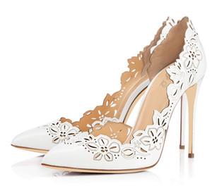 Wed2019 Sharp Loukong Xia en cuir verni Single Ma'am Commute Ol One à pédale Chaussures à talons hauts