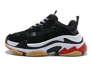 Дизайнерская обувь Triple-s Fashion Paris черный белый красный старый папа роскошные кроссовки тренажерный зал Красный Синий Повседневная обувь для мужчин женщин платформа schuhe