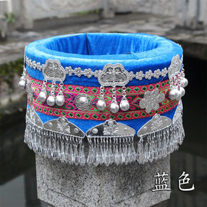 Hmong hat miao jewelry Chinese Folk Dance wear hair accessories Miao hat ethnic minority stage performance costume accessories