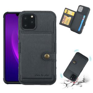 2019 novo estilo de telefone case para iphone 11 xs max xs xr anti-choque pu slot para cartão de couro case para samsung nota 10 10 mais