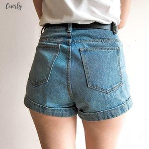 Denim Shorts femmes taille haute finition ourlet roulé Denim Shorts Sexy Girls Jeans Shorts Cuff Plus Size Filles Street Wear C3627