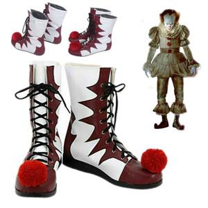 de Stephen King Ele Pennywise Shoes Up Halloween Costume Fancy Dress Clown Joker Cosplay Bota por Homens Womens Cosplay