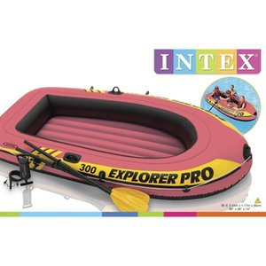 Intex Explorer Pro 200 Inflatable Boat With Oars And 58357NP Pump Surfboards