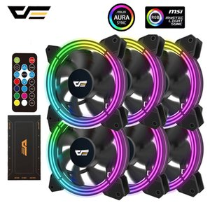 Компьютер Управление darkFlash CF11 Pro RGB Вентилятор 120мм AURA RGB контроллер ПК скорость вращения вентилятора Регулировка Quiet IR Remote Computer Case CPU