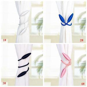 Wholasale Rideaux Bandages Boucle Creative Home Textile Rideau Bracelet Boucle Porte-fenêtre Corde Rideaux décoratifs Accessoires DBC BH3567