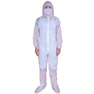 Einweg-Schutzkleidung One Time Non-woven Stoff Conjoined Anti-Staub-Kleidung Ölbeständige Schutzanzüge Overall 3style GGA3259
