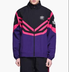 2019 Marque coupe-vent pour les hommes de conception Vestes Manteau Zip Sweats à capuche sport mince rue d'extérieur Hiphop Casual Blanc Violet Poids léger B100042L