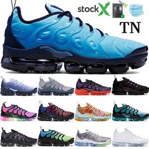 Novos homens mulheres mais Tn tênis Light Blue atual Be True tensão roxo Triplo Preto marrom Noble Red das sapatilhas dos homens estilista trainer