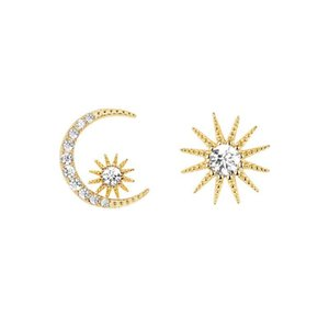 MENGYI Kpop Charm Unusual Earring Set Women's Asymmetric Moon Sun 9 2 5 Stud Earrings Girl Fashion Delicate Outer Banks Jewelry
