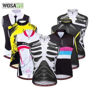 Wosawe esqueleto Ciclismo mangas Jacket A Mountain Country Para minha roupa absorção de umidade transpirar Vest uma variedade de