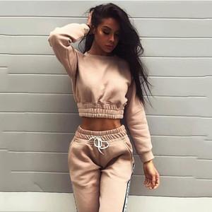 Женские дизайнерские модные спортивные костюмы бренд Solid Color Yoga Letter Print Two Piece Set женские повседневные брюки с длинным рукавом из двух частей комплект одежды