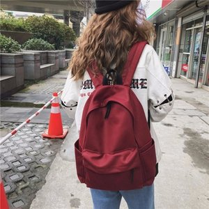 2020 new women's shoulder bag Korean version of the simple lady's backpack