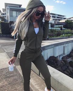 Nova 2019 2pcs Mulheres Set Ladies Treino Cortar Tops camisola Hoodies Calças Sets Sem Logo Lady Leisure Wear Suit Plus Size Casual