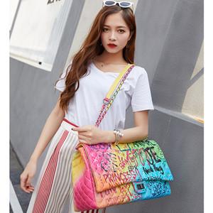 ы граффити женского супер большой емкости путешествие роскошных сумки дизайнер Известная марка женщины сумки 2019 MX191108