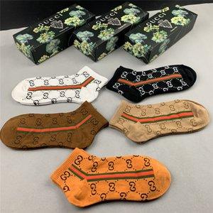 GUCCI Designer SS20 nuovo arrivo superiore Calze Una scatola di 5 coppie di donne di marca dei calzini # 004 Uomo
