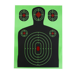 Green Solid Durable Shooting Target 12x18 Shooting Target Paper Targets Fluorescent Green Silhouette Poor Splatter Reactive
