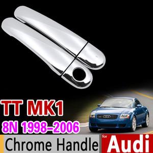 Car Chrome Door Handle Cover Set para Audi TT 8n MK1 1998 1999 2000 2001 2002 2004 2004 2005 2006 2006 RS TTs Sline Accesorios