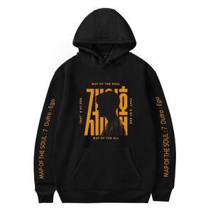 Kpop Bangtan Boys Hoodies Sweatshirt Album MAP OF THE SOUL 7 Long Sleeve Man Women Kpop Harajuku Oversized Pullover Sweatshirt Y200610
