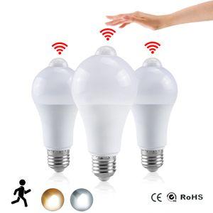 Lampada notturna LED lampadina PIR Sensore PIR Movimento AC 85-265V B22 E27 Lampada lampadina LED 12W 15W 18W 20W Dusk to Dawn Light for Home