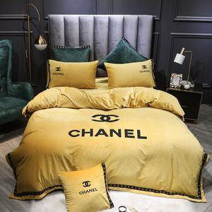 Moda de luxo conjunto de cama King Size Duplo completa Rainha Individual Duplo edredon cobrir Set macio agradável Tocar Tampa Consolador com fronha 55