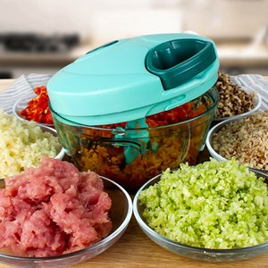 Commercio all'ingrosso 1 PZ Multifunzionale Vegetable Chopper Processor Aglio Cutter Frutta Shredder Manuale Meat Grinder Utensili da cucina