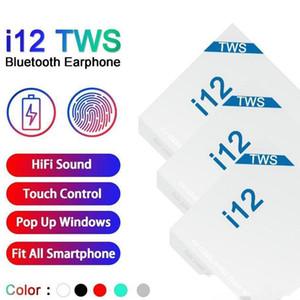I12 TWS Bluetooth 5.0 Auricolari Con finestra pop-up senza fili in-ear auricolari Auto Pairing tocco delle cuffie di controllo PK i9s i11 I18 i7s Earsets