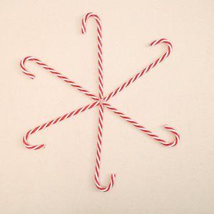 Decoração da árvore de Natal Candy Cane árvore de Natal 6pcs Ornament Plastic Pendant do feriado listrado do bastão de doces Sticks