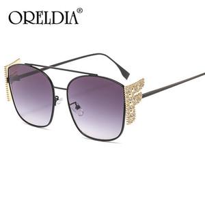 Fashion Square Sunglasses Women Luxury Diamond Vintage Cat Eye Sun Glasses Men Gradient Metal Sunglasses Shades UV400 Oculos