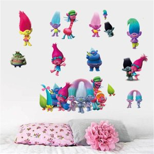 Creative New Mode et Cartoon Trolls amovible Art Vinyl Wall Sticker Mural bricolage Home Décor Decal Chambre