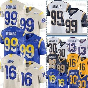 99 Аарон Дональд Джерси 16 Джаред Гофф Тодд Гурли II Лос Анджелес Рэм Джерси 20 Джален Рэмси Оделл Бекхэм младший футбольные майки