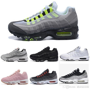 2019 chaussures New Mens Womens Classic Nero Rosso Bianco Sport Trainer Cuscino di superficie Sneakers traspiranti Scarpe da corsa 36-45 max 95 95s air nike