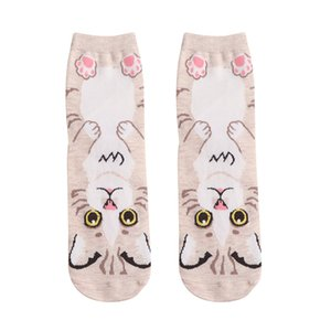 Perimedes Professional  Sport sock Women Cotton Socks Animal Cat Art Animation Character Cute Gift breathable Sock#y10