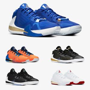 Freak 1 Giannis Antetokounmpo Yakınlaştırma FIBA Yunanistan Portakal Amerika İmza Basketbol Ayakkabı Spor Tasarımcı Sneakers Boyutu 40-46 geliyor