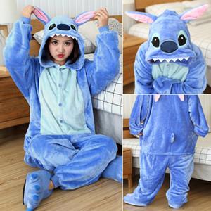 Kigurumi Pajama Stitch Adult Animal Unicorn Onesie Women Men Couple 2019 Winter Pajamas Suit Kegurumi Sleepwear Flannel Pijamas